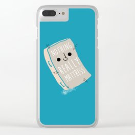 Nothing Really Mattress Clear iPhone Case