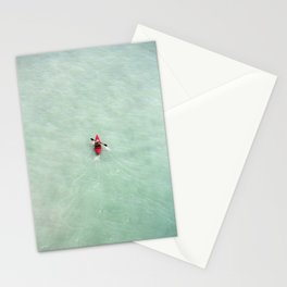 Red Canoe in Paradise | Scarborough Bluffs | Beach Photography | Blue Waves | Aerial Photography Stationery Cards