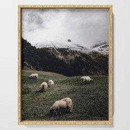 Sheep II / Bavarian Alps Serving Tray