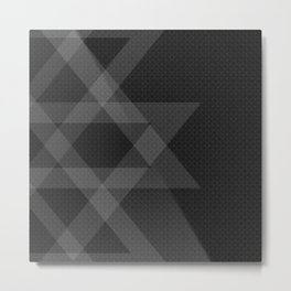 Minimal dark decor Metal Print