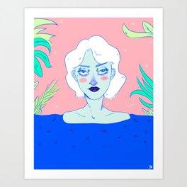 Summer Lagoon  Art Print