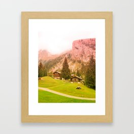 Mountain's Beauty And Nature's Magic Framed Art Print