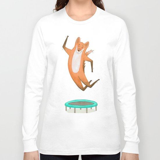 Trampolining Fox Long Sleeve T-shirt