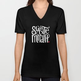 Slainte Mhath on black Unisex V-Neck