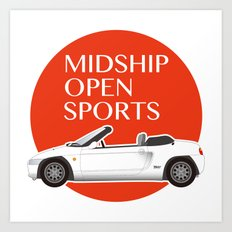 Midship Open Sports Art Print