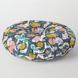 Koi Pond - Pink Floor Pillow