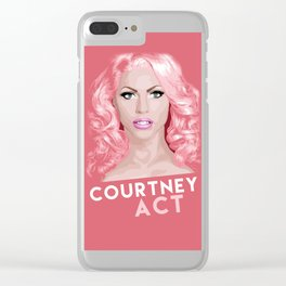 Courtney Act, RuPaul's Drag Race Queen Clear iPhone Case