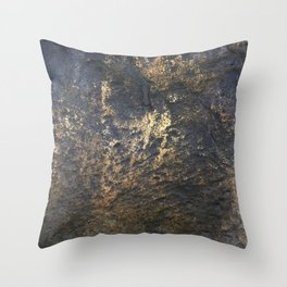 Bronze Stone: Inner Strength and Courage Throw Pillow