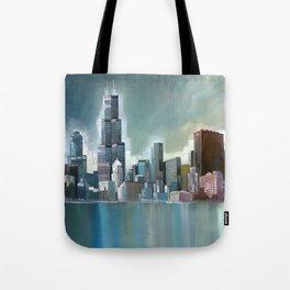 Chicago At Noon Tote Bag