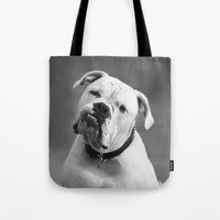 allyson johnson Tote Bags featuring Johnson by Nicole Mlakar