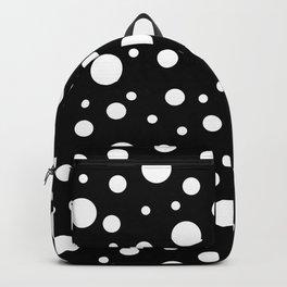 White on Black Polka Dot Pattern Backpack