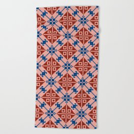 Folk Pattern Beach Towel
