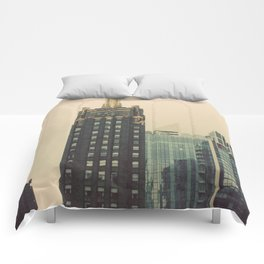 Carbide and Carbon Building Chicago Comforters