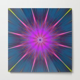 Artistic bright shining abstract star Metal Print
