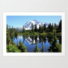 Mt. Shuksan and Reflection Art Print