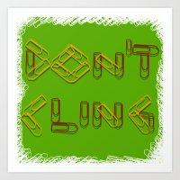 Don't Cling Art Print