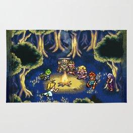 Chrono Trigger Camping Scene Rug