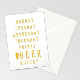 tuesday friday beer - I love beer Stationery Cards