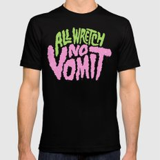 All Wretch No Vomit MEDIUM Black Mens Fitted Tee