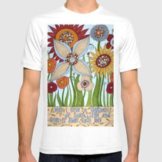 Garden of Compassion Mens Fitted Tee White MEDIUM