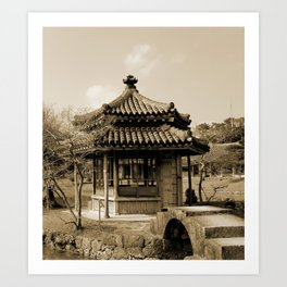 Japanese pavillion Art Print