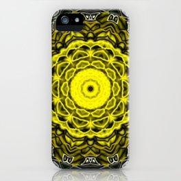 Yellow black design iPhone Case