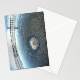 Chris Harsh Photos * A Low Tide Sand Dollar * Huntington Beach Pier  Stationery Cards