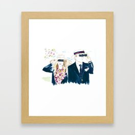 Meg and Aaron at the Carolina Cup Framed Art Print