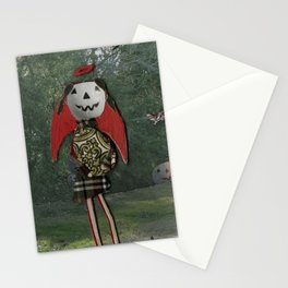 pumpkin girl Stationery Cards