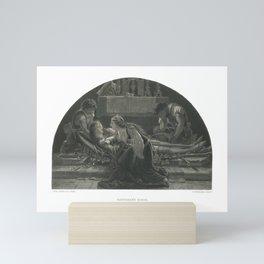 1858 The Art Journal of Antique Print of Barthram's Dirge by Joseph Paton Mini Art Print