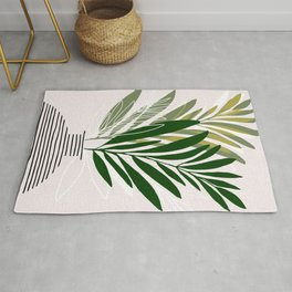 Olive Branches / Contemporary Botanical Art Rug
