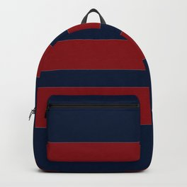 Navy Three Red Horizontal  Backpack
