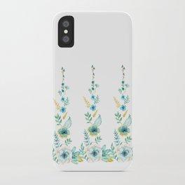 Blue Floral Twist iPhone Case