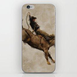 Western-style Bucking Bronco Cowboy iPhone Skin