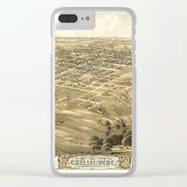 Bird's Eye View of Chillicothe, Missouri (1869) Clear iPhone Case