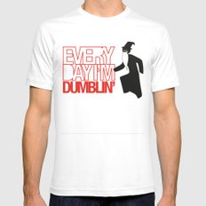 Every Day I'm Dumblin' White SMALL Mens Fitted Tee