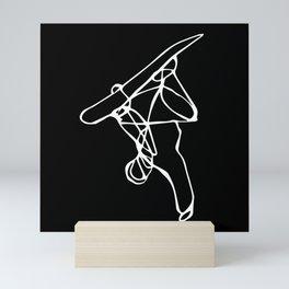 Hand Plant :: Single Line Mini Art Print