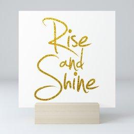 Rise And Shine Glitter Gold Mini Art Print