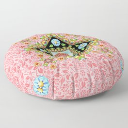Pink Pansy Cottage Floor Pillow
