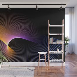 star graphic rays movement pattern Wall Mural