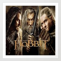 hobbit Art Prints featuring  Hobbit by ira gora
