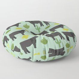 Cattle breed cactus farm gifts homestead art cow illustration Floor Pillow