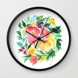 Botanical Wreath Wall Clock