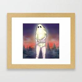 Shirt Ghost Framed Art Print