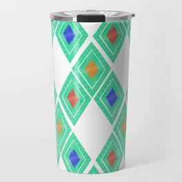 Chiapas Pattern - Turquoise Travel Mug