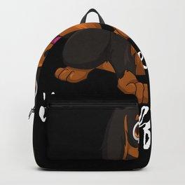 Sausage Dog Coffee time Dachshund Gift Backpack