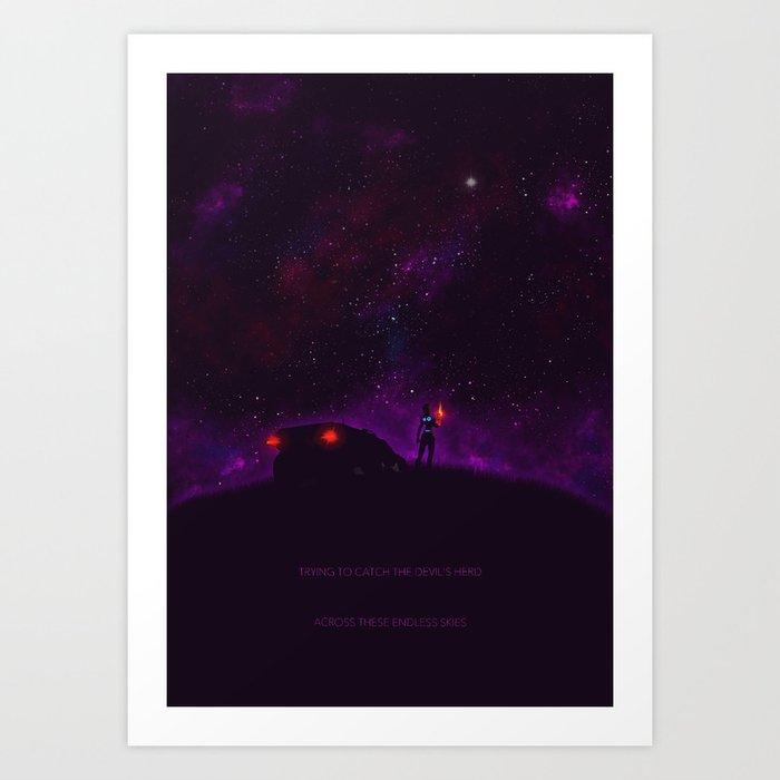 Ghost Riders In The Sky Art Print