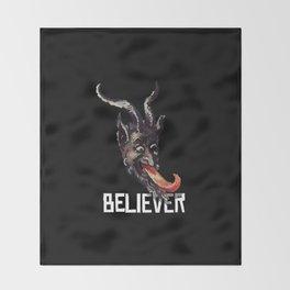 Krampus Believer Gruss Vom Merry Christmas Demon Throw Blanket
