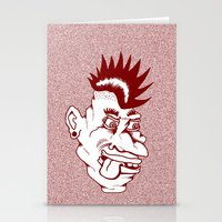 punk Stationery Cards featuring Punk by Adam Metzner
