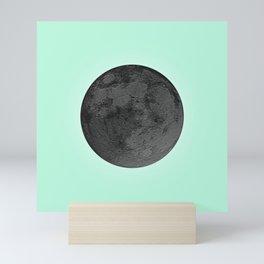 BLACK MOON + TEAL SKY Mini Art Print